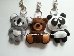 Miś Panda Brunatny Koala brelok breloczek filc handmade