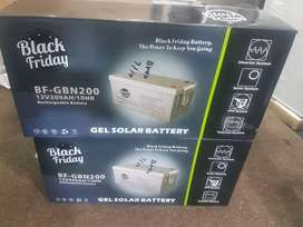 Black Friday Gel Solar Rechargeable Battery 12V 200AH for only R4500