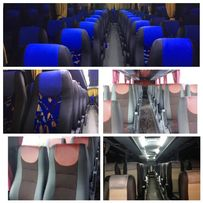 Обшивка перетяжка сидений салона автобуса Neoplan Setra Scania Iveco