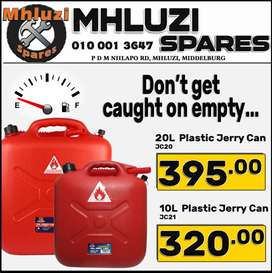 20L Plastic Jerry Can ONLY R395 & 10L Plastic Jerry Can ONLY R320