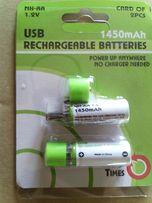 Аккумулятор - USB батарейка АА