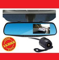 Регистратор- зеркало с камерой заднего вида Full HD Большой экран