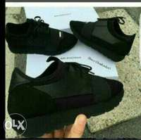 black race runner balenciaga shoe 0