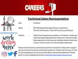 Technical Sales Representative - Pinetown