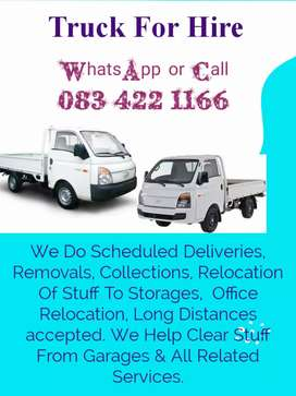 Truck / Bakkie for hire with a driver