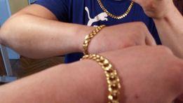 pozłacany łańcuszek plus bransoletka,złoty łańcuszek plus bransoletka