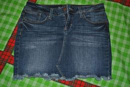 Джинсовая короткая юбка. Р. 44-46