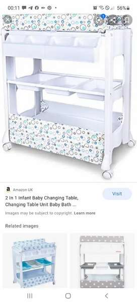 Baby bath and changer with storage