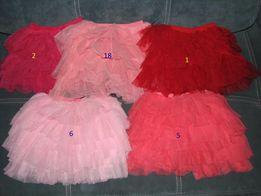 Нарядная юбка под вышиванку 1-9 лет и 18 цветов фатиновая
