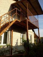 Продам металлический балкон + лестница