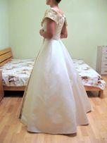 Платье свадебное классика с золотом НОВОГОДНИЕ ЦЕНЫ