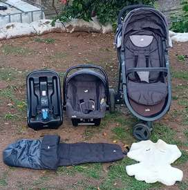 Joie Literax 3 Travel System with click fit base.