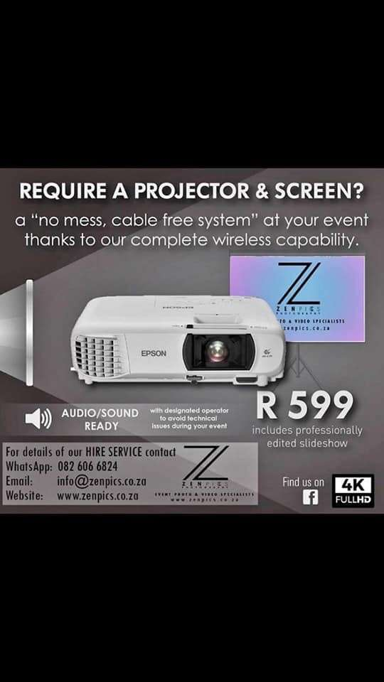 Projector and screen hire/ slideshow presentation/photography 0