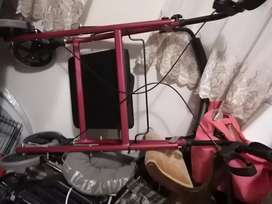 For sale wheel Chair hardly used and a 4 ww