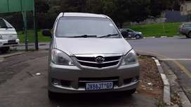 2007 TOYOTA AVANZA WITH AN ENGINE CAPACITY OF 1,3