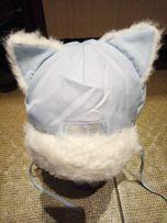 Зимняя шапка, шапочка с ушками (котик)