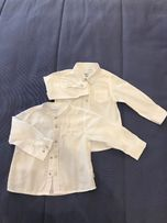 Рубашка белая с рукавами фирмы CHICCO для мальчика 80 cm