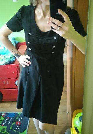 Sukienka rozm 38/M, czarna z guzikami, stan bardzo dobry Sosnowiec - image 3