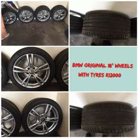 """bmw msport 18"""" wheels and tyres"""