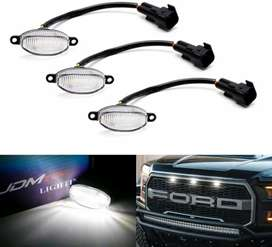 3pc White LED Grill Lights