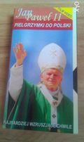 Pielgrzymki św. JP II do Polski. VHS PAL Oryginał + Plakat!