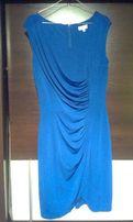 elegancka sukienka wesele ultramaryna chaber 40