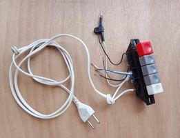 Кнопки включения вентилятора (оригинал в сборе) сетевой шнур 220В