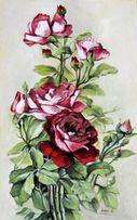Obraz olejny - Kwiaty - RÓŻE.