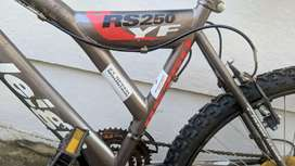 Raleigh Y-frame 24-inch mountain sport dual shock 21-speed bike.