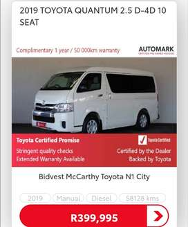 2019 TOYOTA QUANTUM 2.5 D4D 10 SEATER - CONTACT ZIYAAD