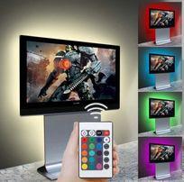 Podświetlenie USB LED 200cm Kilka kolorów w jednym pasku Pilot Super!!