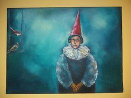 """Obraz """"Pajacyk z ptaszkami"""" z 2007 roku"""