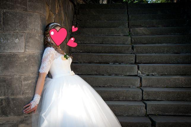 Весільне плаття ,гарне, стильне шампань не дорого ідеальний стан Тернополь - изображение 2