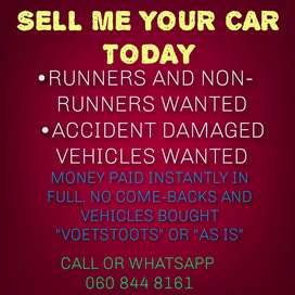 Used vehicles wanted in any condition.