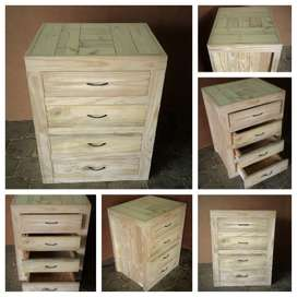 Kitchen Cupboard Base unit Farmhouse series 0700 with 4 drawers - Raw