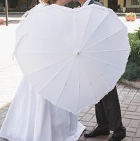Зонт-трость в форме сердца