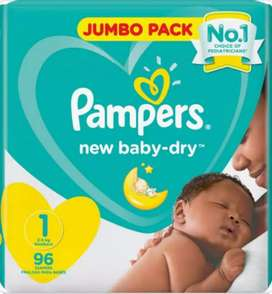 2 packets Pampers newborn baby dry Jumbo pack - size 1