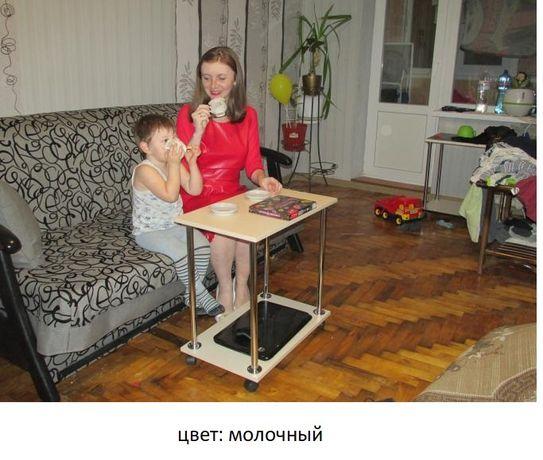 Столик на колесах для завтрака, ноутбука, журнальный 3 в 1 Доставка Одесса - изображение 2