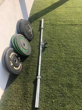 Olympic Weightlifting Bar and weight plates