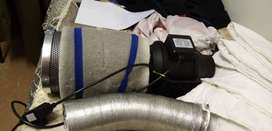 Carbon Air Filter, In-Line Fan & Ducting