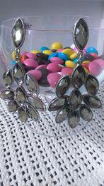 Kolczyki kryształki efektowne studniówka wesele sylwester Glamour