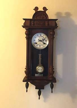 BLESSING WOODEN WALL CLOCK 30 DAYS WINDING