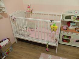 Klupuś Marsel łóżeczko dziecięce białe 120X60