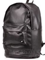 ТОП! Кожаный рюкзак, городской рюкзак, рюкзак под кожанку