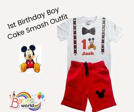 1st Birthday Cake Smash Outfit for Boys