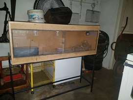 Reptile cage and stand