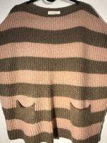 Sweter z kieszonkami 3/4 rękawek nowy