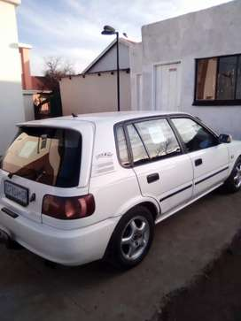 Toyota tazz.1.6 engine.color white