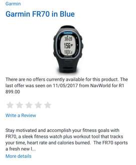 Garmin FR70 sports watch