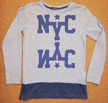 Tunika bluzka NYC szara r. 146-152 NOWA